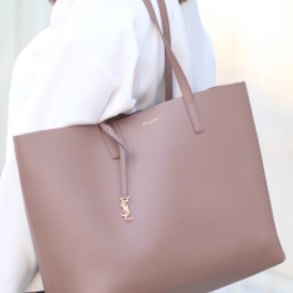 TRADED - YSL shopper Tote bag in Deep Rose. M 5bf4e5bf035cf1e2e1a16407 89410113d9b37